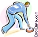 Curling Vector Clipart image