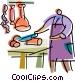 Butchers Vector Clip Art image