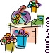 Florists and Nurseries Vector Clip Art picture