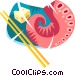 Japanese food Vector Clipart graphic
