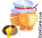 jar of honey Vector Clip Art picture