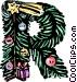 Festive Letters Vector Clip Art image