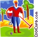 Polo Players Vector Clip Art picture