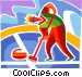 Curling Vector Clipart graphic