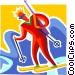 Biathlon Vector Clip Art picture
