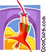 Bungee Jumping Vector Clip Art picture