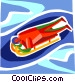 Luge Vector Clip Art graphic