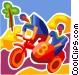 Racing Bikes Vector Clip Art picture