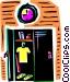 Lockers Vector Clipart image