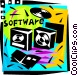 Software Packages Vector Clipart graphic