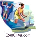 Field Hockey Vector Clip Art graphic