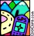 portable gps Vector Clip Art graphic