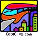 Monorail Vector Clipart illustration