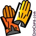 Gloves Vector Clip Art graphic