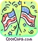 American flags Vector Clip Art picture