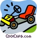 Trucks and cars Vector Clipart picture