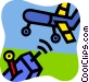 Toy Airplanes Vector Clipart illustration