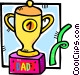 fathers day trophy Vector Clip Art image