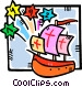 Christopher Columbus arrives Vector Clip Art picture