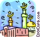 Islamic Minarets Vector Clipart picture