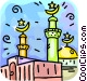 Islamic Mosque Vector Clipart illustration
