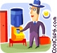 At the Water Cooler Vector Clipart graphic