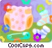 diapers and baby socks Vector Clipart graphic