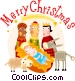 Christmas scene Vector Clipart graphic