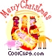 Wise men with baby Jesus and Vector Clip Art graphic