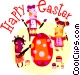 Easter Greetings Vector Clipart graphic