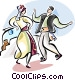 Traditional Greek dancing Vector Clip Art picture