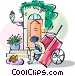 French wine house Vector Clip Art picture
