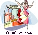 performer in Moulin Rouge Vector Clip Art picture
