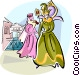 Venetian costumes at the Venice carnival Vector Clipart illustration