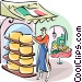 Italian cheese maker Vector Clip Art image