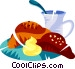 French breakfast Vector Clipart picture