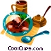 Feijoada, Brazilian national dish of rice,beans, & pork Vector Clip Art picture