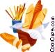 EU European cuisine baguette Vector Clipart picture