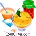 EU European cuisine cr�pes Vector Clip Art image