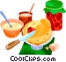 EU European cuisine cr�pes Vector Clip Art picture