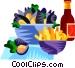 EU European cuisine moules Vector Clip Art image