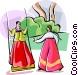 Religious Holidays Korea Tano Vector Clip Art image