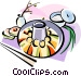 Korean cuisine Shinsolo BBQ Vector Clipart image