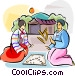 Korean game of yut Vector Clip Art picture