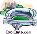 Spain Bernabeu stadium Madrid Vector Clip Art picture