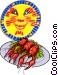 Swedish crayfish party Vector Clipart illustration