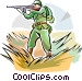 WW1 soldier with weapon Vector Clipart image