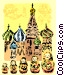 St. Basil's Cathedral and Vector Clip Art graphic