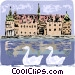 Frederiksborg Castle in Denmark Vector Clip Art picture