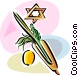 Sukkot Arbaat Haminim Vector Clipart illustration